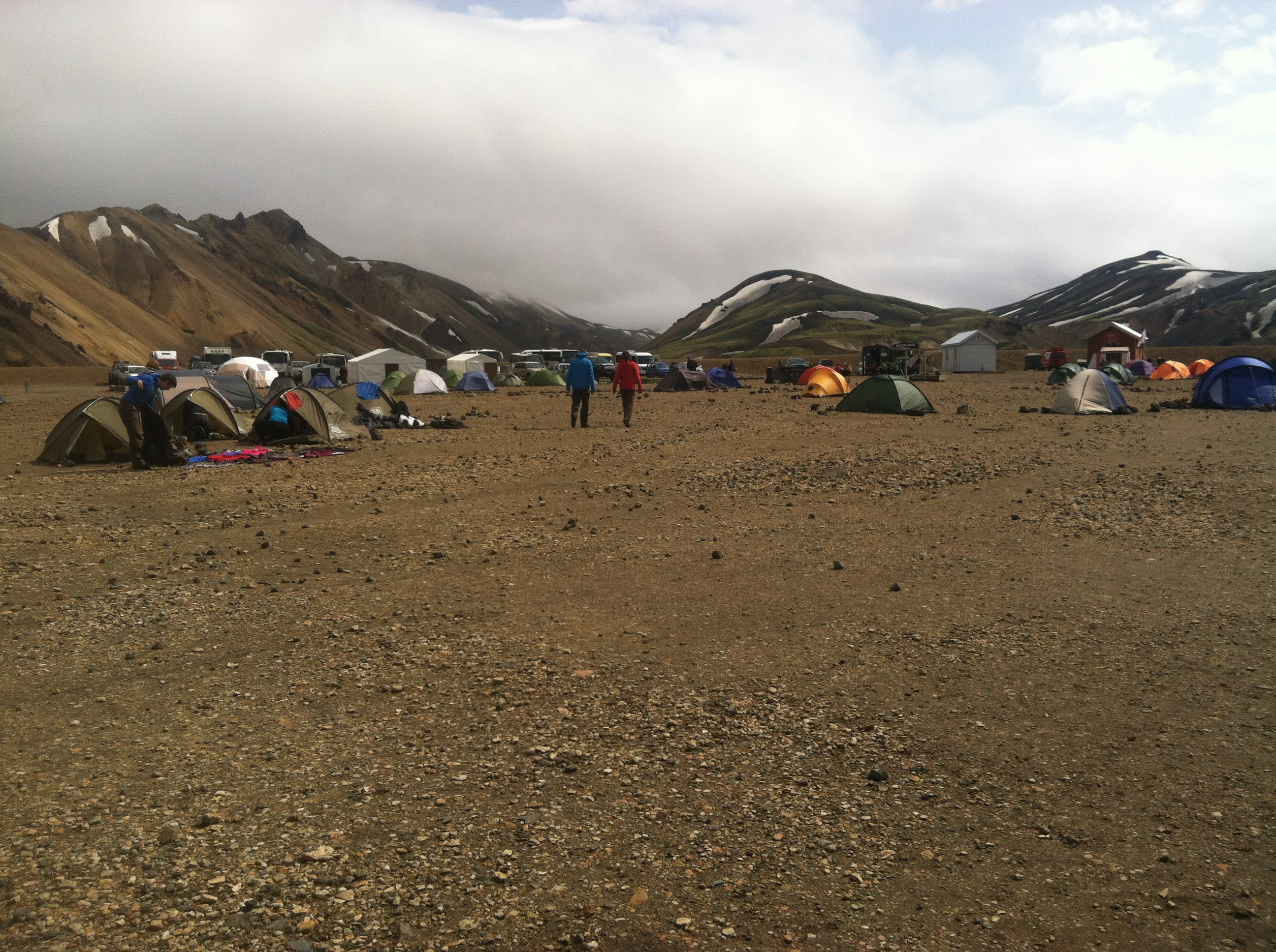 Photo of basecamp at Landmannalaugar