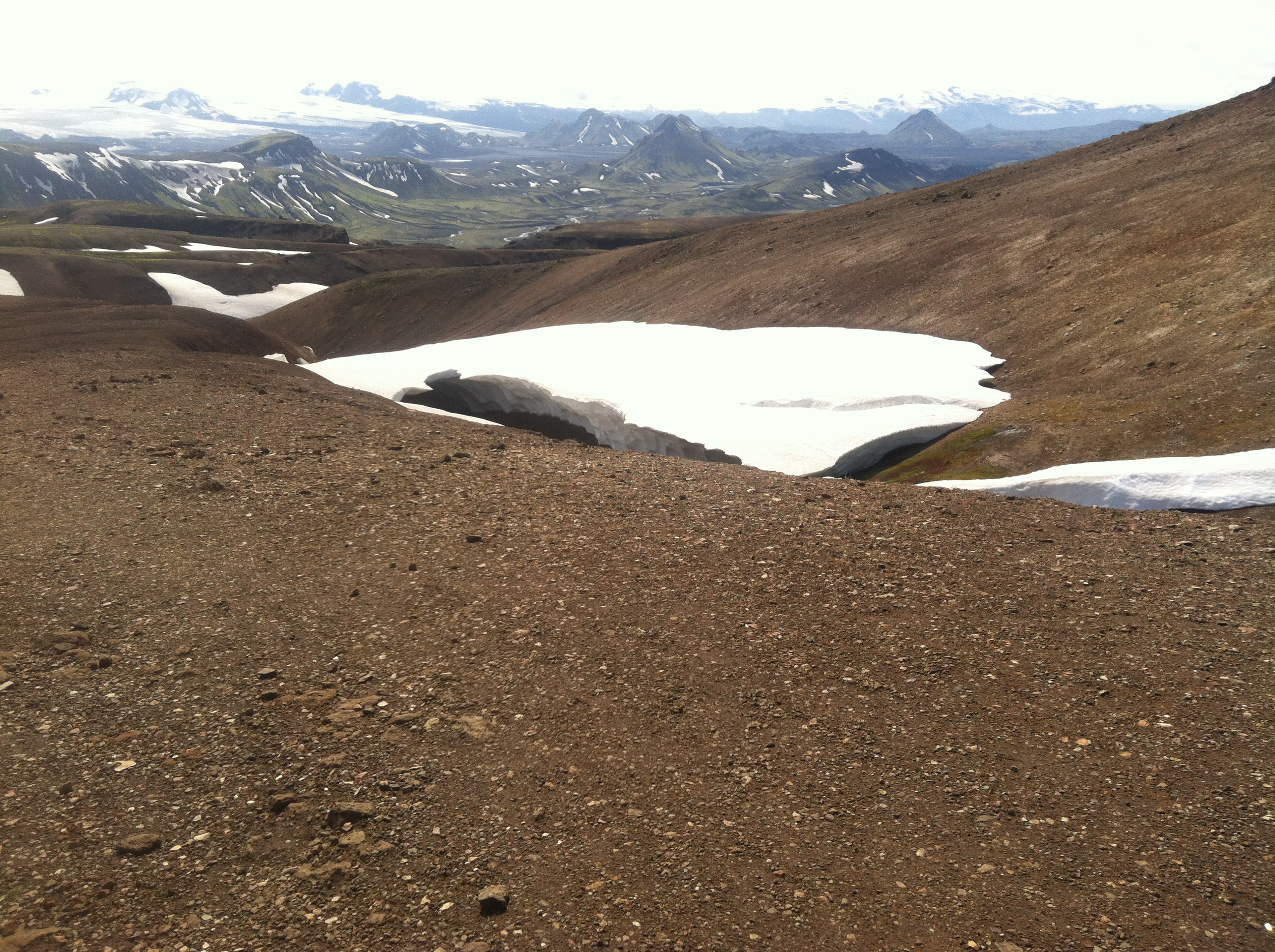 Photo of a snowbridge that collapsed.