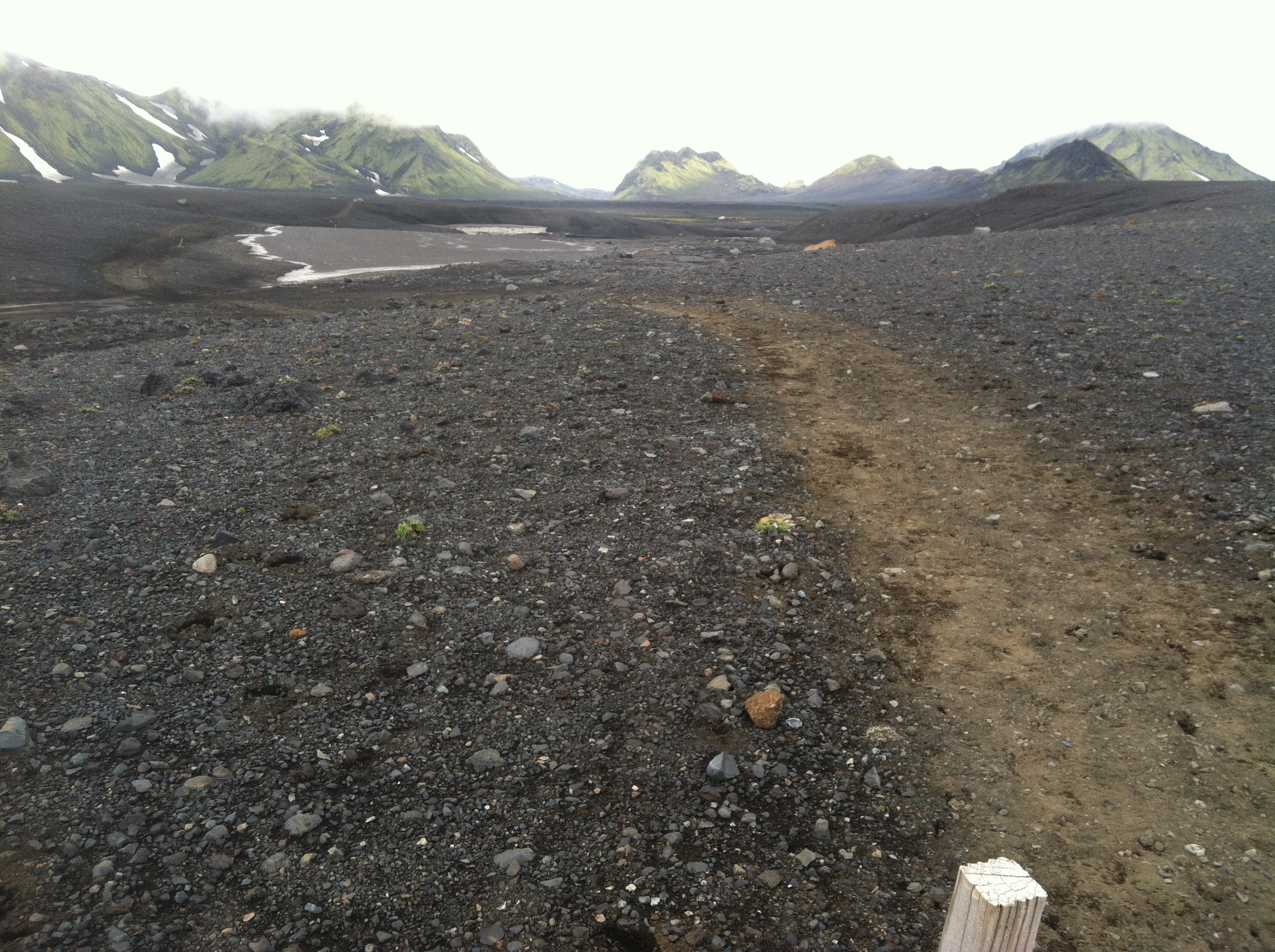 Photo of mudflats on Laugavegur trek
